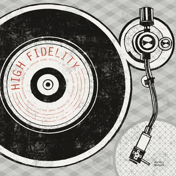 Vintage Analog Record Player