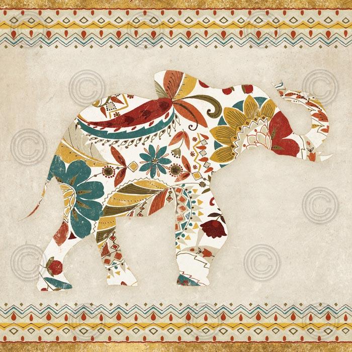 Boho Elephant I