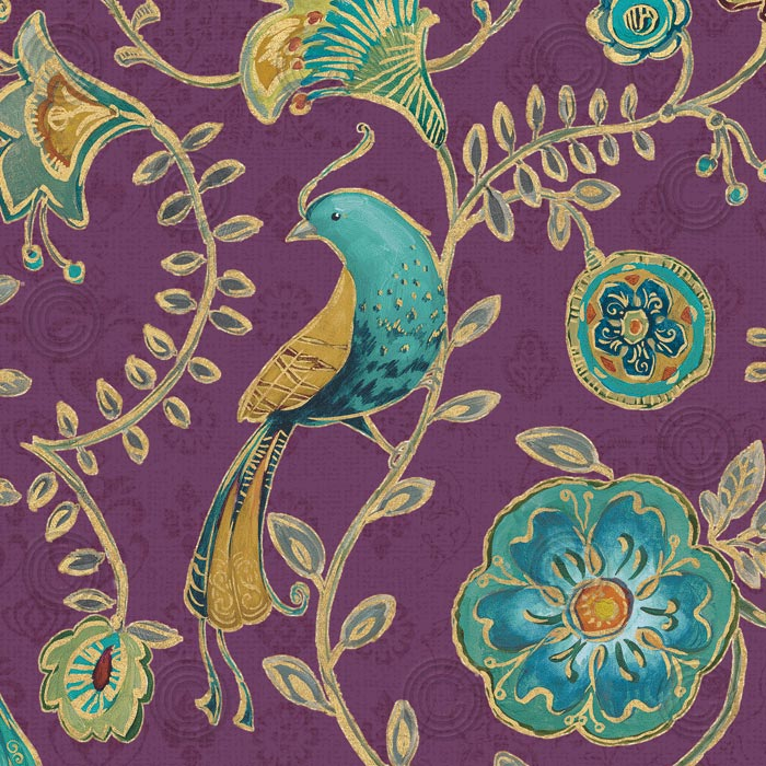 Bohemian Wings VIII Aubergine