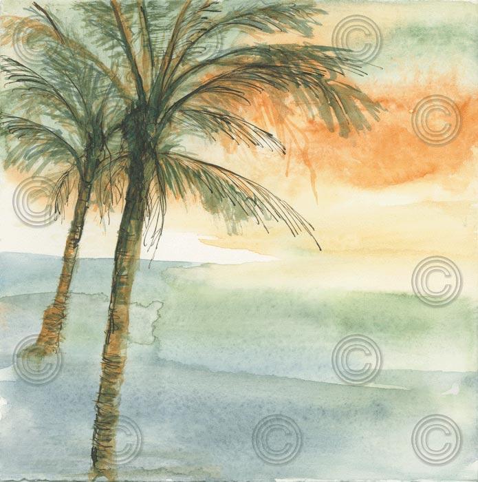 Island Sunset I