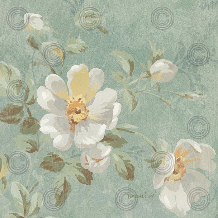 Roses on Blue II