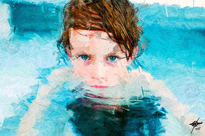Turquesa en el agua